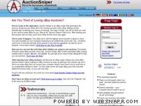 auctionsniper.com - Auction Sniper : eBay Sniper and eBay Bidding snipe, bid sniping for eBay