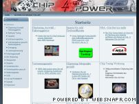 chip4power.de - Chiptuning, Chip Tuning, Motortuning, Diesel, BMW, Eco, Audi, CDI, TDI, VW, Opel, Dieseltuning, Ford, Seat