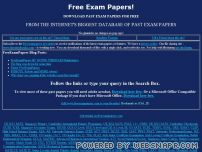 freeexampapers.com - Free Past GCSE/IGCSE/O & A Level/IB Exam Papers