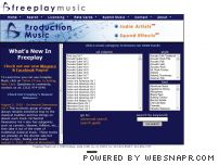 freeplaymusic.com - Freeplay Music, Broadcast Production Music Library, Free and Mp3 Music Downloads, See Usage Terms.