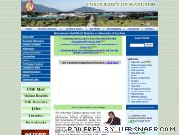 kashmiruniversity.net - Welcome to the Official Website of University of Kashmir