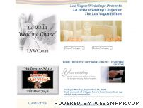 "labellaweddingchapel.com - La Bella Wedding Chapel  by ""Las Vegas Weddings"""