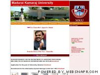 mkuniversity.org - Welcome to official website of MADURAI KAMARAJ UNIVERSITY