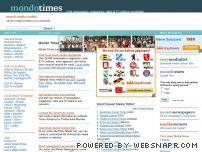 mondotimes.com - Mondo Times, the worldwide media directory - 24,500 newspapers, magazines, radio and TV stations