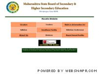 msbshse.ac.in - Maharashtra State Board of Secondary & Higher Secondary Education,    Shivajinagar, Pune 411 004.