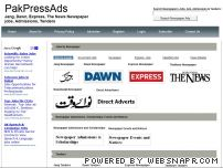 pakpressads.com - Jang, Dawn, Nation, TheNews, Express, Nawa-i-waqat, NewsPaper Jobs Ads