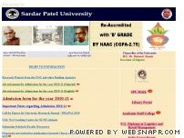 spuvvn.edu - Welcome to Sardar Patel University