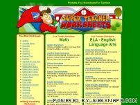 super teacher worksheets free printable math worksheets grammar. Black Bedroom Furniture Sets. Home Design Ideas