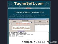 tachosoft.com - TachoSoft Mileage Calculator - odometer recalibration speedometer calibration digital odometer roll back