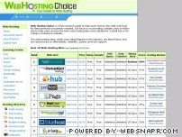 webhostingchoice.com - Top 10 Web Hosting Sites - Find the best web hosting company providers, Best Website Hosts Research Guide